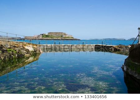 porta · água · nuvens · paisagem · oceano - foto stock © chris2766