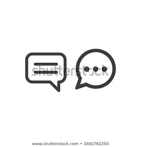 social · networking · balão · de · fala · pessoas · ícones · falar - foto stock © m_pavlov