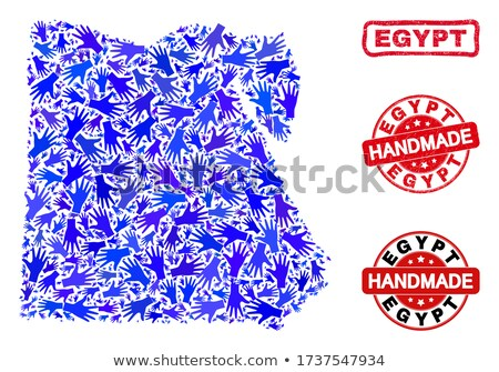 Made in Egypt - Red Rubber Stamp. Stock photo © tashatuvango