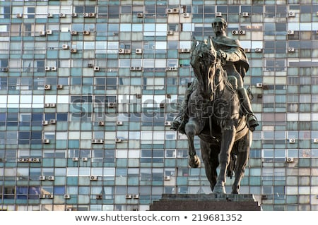 дворец квадратный икона Монтевидео Уругвай окна Сток-фото © xura