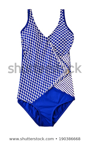 blue woman swimming suit isolated on white Stock photo © artjazz