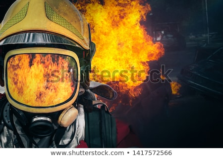close up of a confident firefighter Stock photo © bmonteny