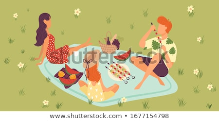 mother and daughter picnicking stock photo © hasloo