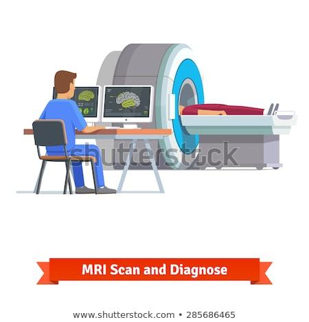 Arts mri Xray hersenen medische technologie Stockfoto © HASLOO