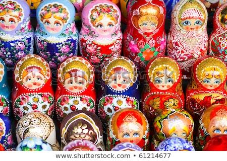 Közelkép orosz babák csetepaté fa baba Stock fotó © bmonteny
