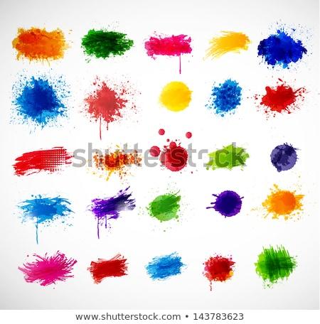 Festék csobbanás absztrakt graffiti színes textúra Stock fotó © sirylok