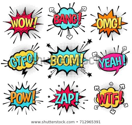cartoon text explosions comic bubble stock photo © kiddaikiddee