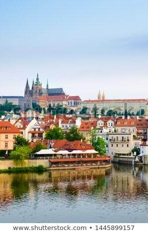 Stok fotoğraf: Prag · şehir · sabah · ufuk · çizgisi · görmek · kasaba