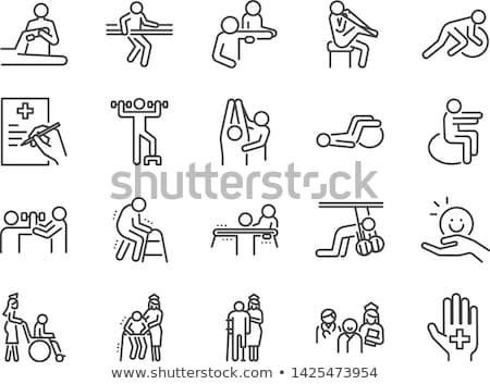 Person with Walker - Physical Therapy Stock photo © iqoncept