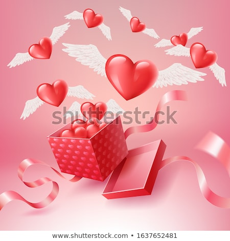 heart flies out of the box Stock photo © enlife