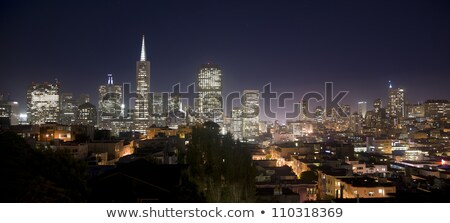 night time skyline of San Francisco with Coit Tower Stock photo © PixelsAway