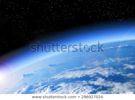 Aarde atmosfeer achtergrond schoonheid ruimte Stockfoto © HERRAEZ