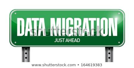 data migration on highway signpost stock photo © tashatuvango