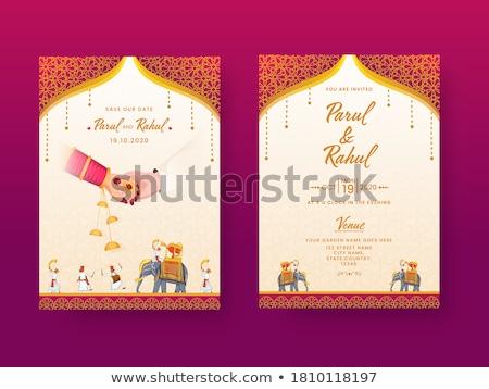 Esküvő szertartás házasság India terv indiai Stock fotó © ziprashantzi
