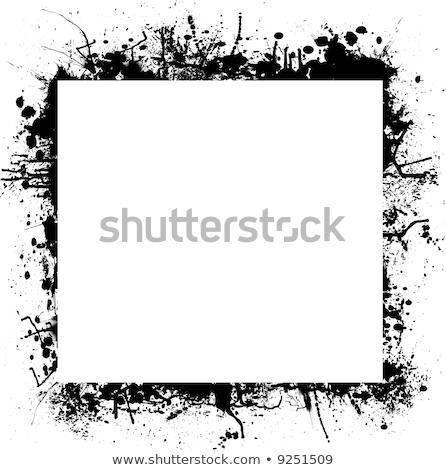 Stock foto: Ink Splat Border Mono