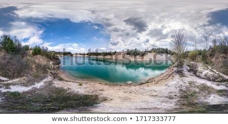 limestone piles at coast stock photo © olandsfokus
