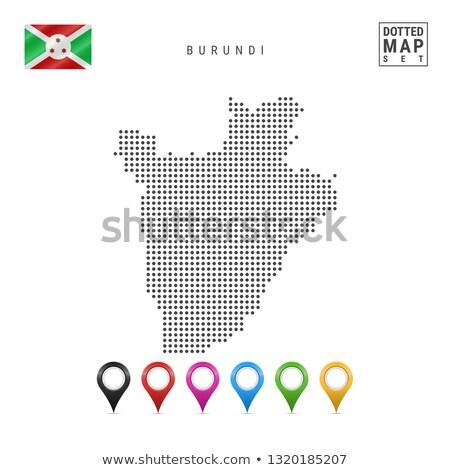 Mapa república Burundi ponto padrão vetor Foto stock © Istanbul2009