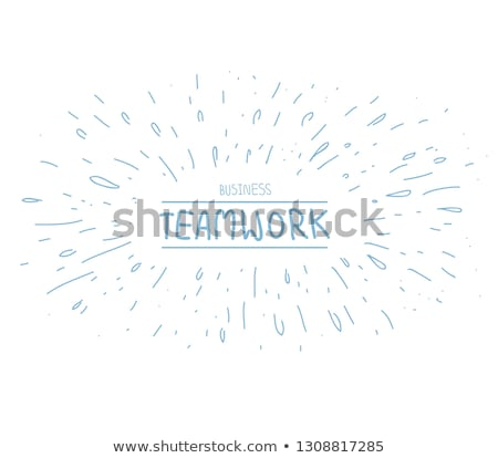 infographics teamwork with business doodles sketch background stock photo © davidarts