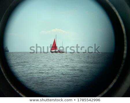 Teleskop brzegu plaży niebieski morza charakter Zdjęcia stock © kasto