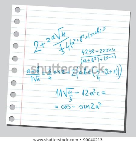Mathématique serviette physique écriture tasse café Photo stock © PixelsAway
