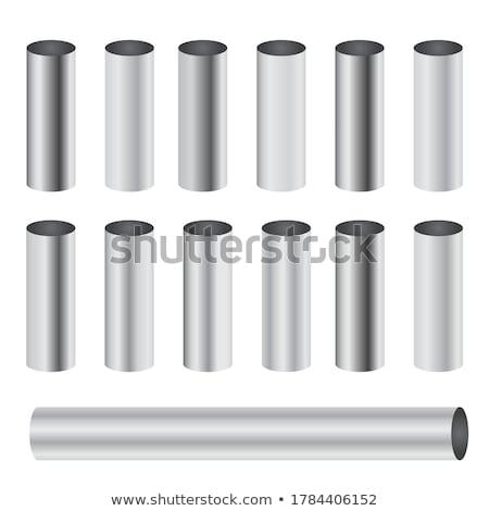 Aluminium rury biały odizolowany tekstury Zdjęcia stock © cherezoff