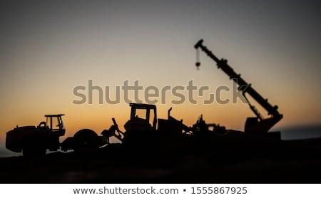 строительство оборудование силуэта иллюстрация пакеты небе Сток-фото © silverrose1