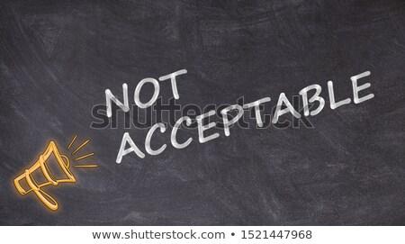 Aanvaarding afwijzing geschreven Blackboard hand pijl Stockfoto © Zerbor
