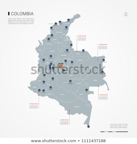orange button with the image maps of Colombia Stock photo © mayboro