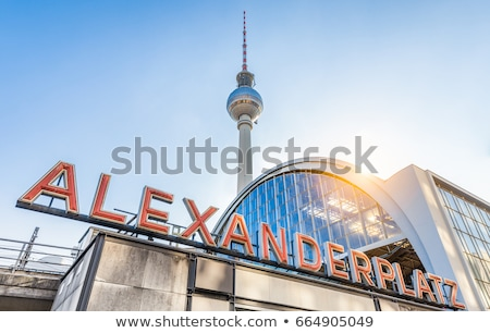 Alexanderplatz square in Berlin, Germany Stock photo © AndreyKr