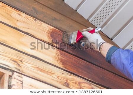 Pennello legno spazio lavoro design Foto d'archivio © dariazu