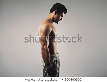 Side view of a shirtless muscular man Stock photo © wavebreak_media