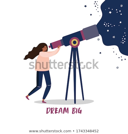sterrenkundig · telescoop · Blauw · nachtelijke · hemel · berg · sterren - stockfoto © adrenalina