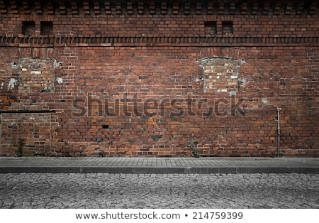Crack in brick wall of house Stock photo © orensila