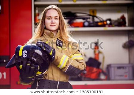 firefighter girl Stock photo © adrenalina