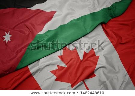 Canada and Jordan Flags Stock photo © Istanbul2009