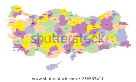 地図 トルコ 外に 孤立した 白 青 ストックフォト © Istanbul2009