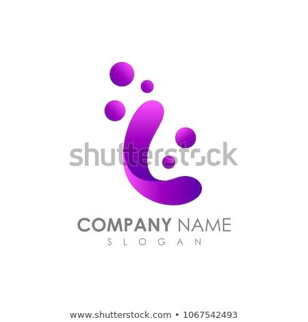 Letter l paars logo icon ontwerp kantoor Stockfoto © blaskorizov