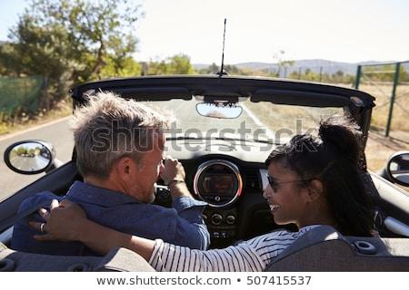 Rückansicht romantischen Paar weiß Stock foto © wavebreak_media