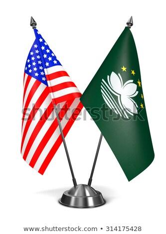 EUA miniatura banderas aislado blanco bandera Foto stock © tashatuvango