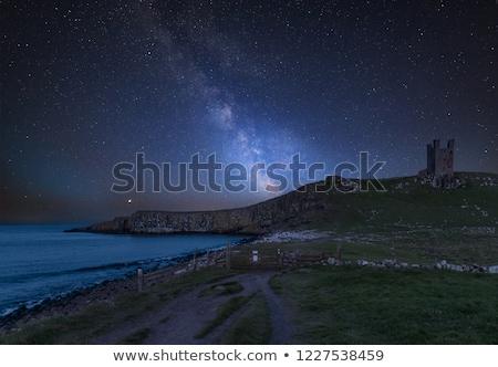 Castelo costa norte inglaterra praia edifício Foto stock © chris2766