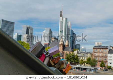 любви железной моста Франкфурт основной Сток-фото © amok