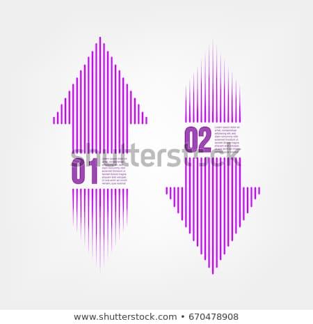 Aşağı ok mor vektör ikon dizayn Stok fotoğraf © rizwanali3d