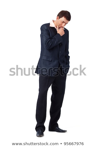 thoughtful business man looking down stock photo © feedough