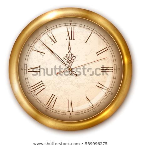 clock golden vector icon design stock photo © rizwanali3d