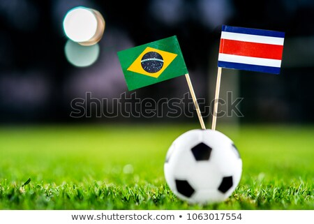 Brasil Costa Rica banderas rompecabezas aislado blanco Foto stock © Istanbul2009