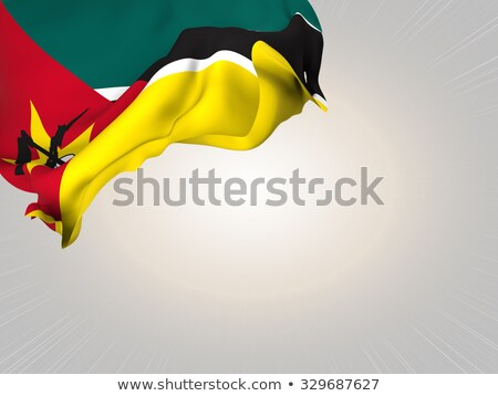 ícone bandeira Moçambique isolado branco país Foto stock © MikhailMishchenko