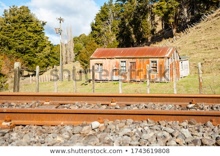ferrocarril · líneas · metálico · perspectiva - foto stock © paha_l
