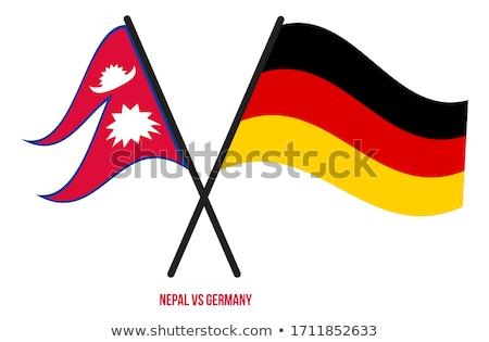 Niemcy Nepal flagi puzzle odizolowany biały Zdjęcia stock © Istanbul2009