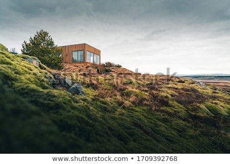 Stock photo: Small house in the mountains