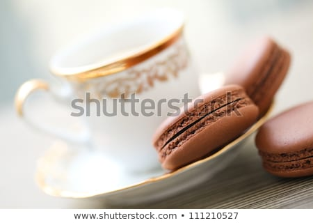 Coffee and macaron cookies on table Stock photo © stevanovicigor